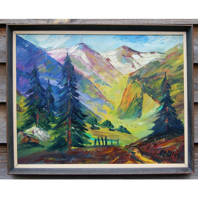 Scandinavian Landscape Painting by Max Ulvig - Image 2 of 5