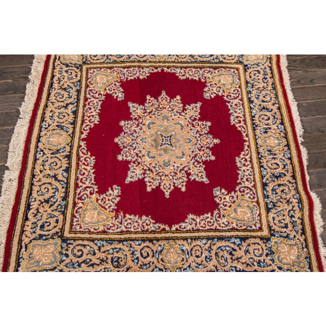 "Vintage Persian Kerman Rug, 3'8"" x 3'9"" For Sale - Image 4 of 5"