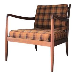 Danish Mid Century Modern Lounge Chair For Sale