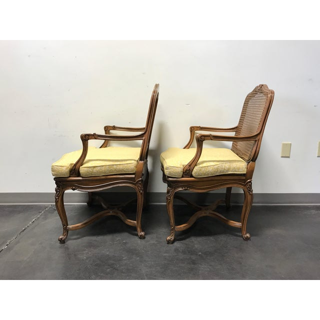Carved French Style Open Armchairs with Cane Backs - A Pair - Image 10 of 11