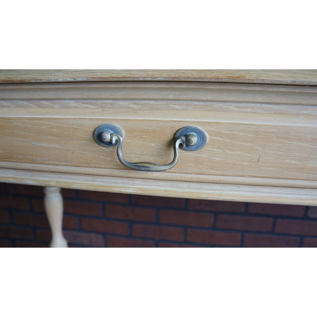 Drexel 20th Century Cottage Farmhouse Console Table For Sale - Image 4 of 9