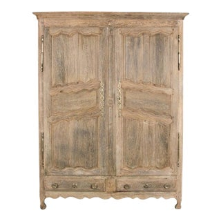 19th Century French Star Oak Wardrobe For Sale