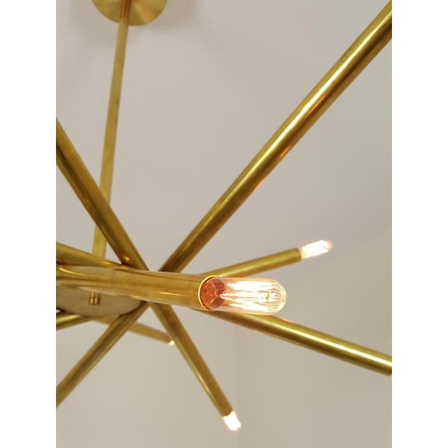 "Model 120 Sculptural Brass ""Nest"" Chandelier by Blueprint Lighting - Image 6 of 13"