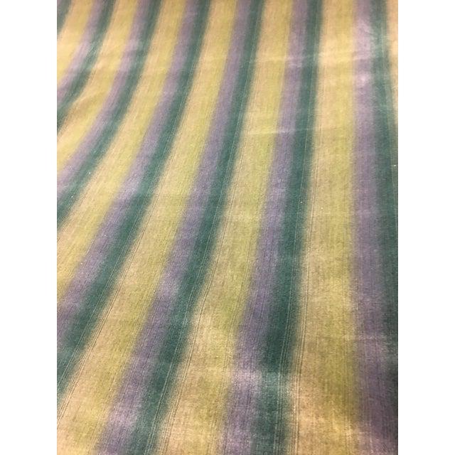 2010s Brunschwig & Fils Linear Cotton & Viscose Velvet Ombre Stripe Fabric - 14 1/2 Yds. For Sale - Image 5 of 5