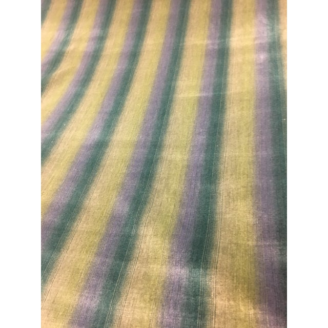 2010s Brunschwig & Fils Linear Velvet Stripe Fabric - 14 1/2 Yds. For Sale - Image 5 of 5