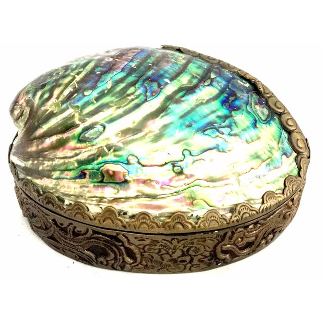 Iridescent Hinged Shell Dish - Image 1 of 6