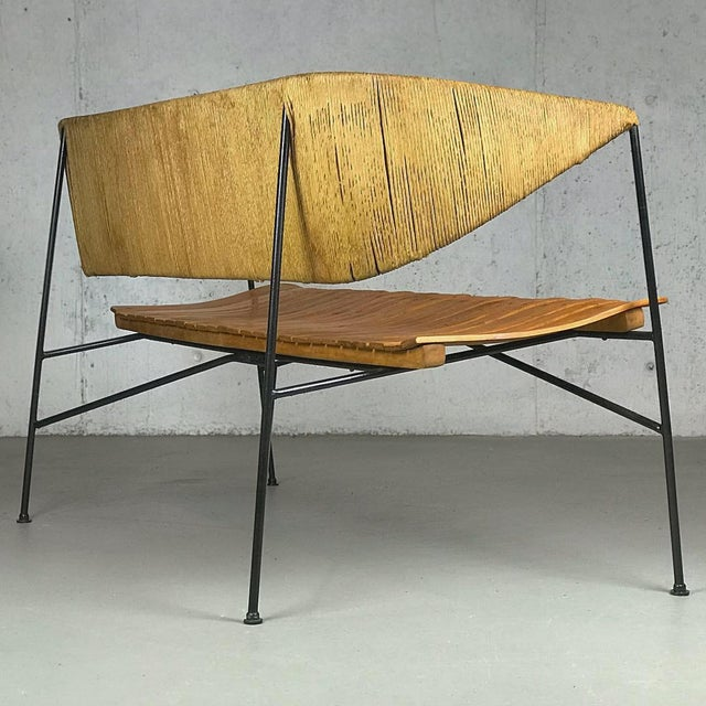 1950s Modernist Settee by Arthur Umanoff for Shaver Howard & Raymor Loveseat Bench Sofa Couch For Sale - Image 5 of 13