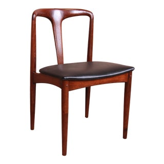 Johannes Andersen for Uldum Sculpted Teak Juliane Side Chair, Newly Restored For Sale