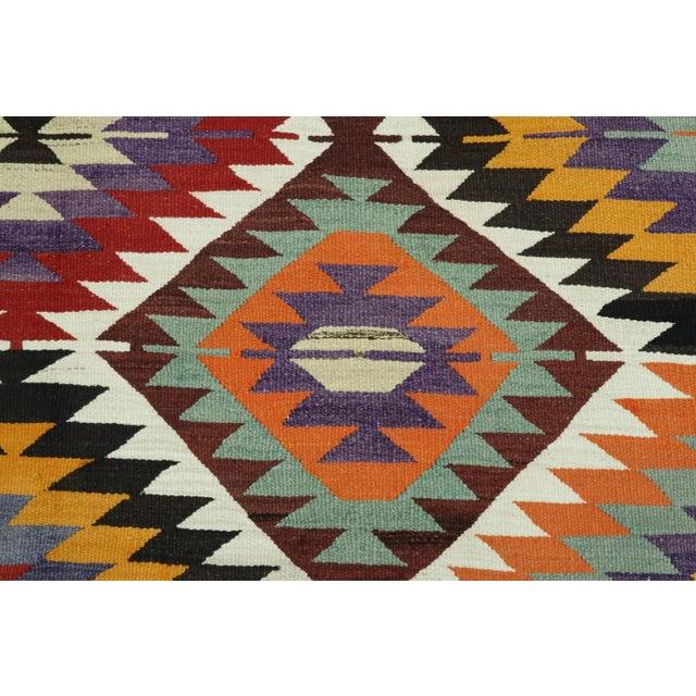 Chestnut Vintage Turkish Kilim Rug For Sale - Image 8 of 13