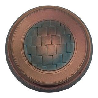 Jim Kemp Signed Studio Pottery Round Box For Sale
