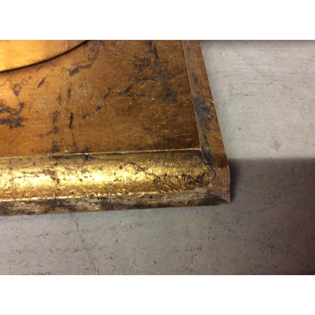 Monumental Italian Gold Gilt Carved Wood & Painted Glass Top Coffee Table For Sale In Richmond - Image 6 of 11