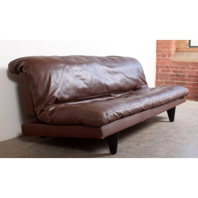 DeSede Ds169 Brown Leather Convertible Sofa For Sale - Image 12 of 12