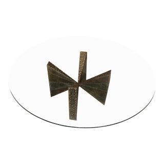 Paul Evans Brutalist Steel Coffee Table For Sale