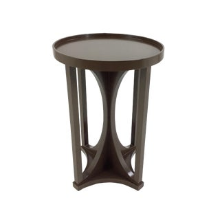 Henredon D. Kilenberg Chocolate Brown Emery Accent Table For Sale