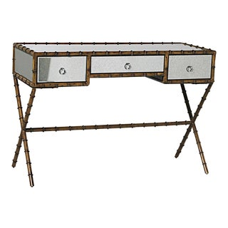 Mid-Century Modern Faux Bamboo Desk For Sale