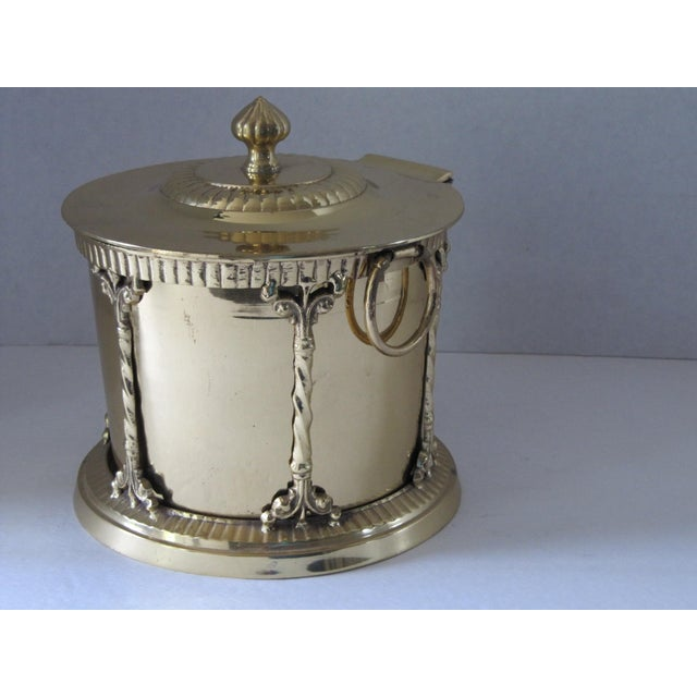 Hollywood Regency Brass Box With Attached Lid For Sale - Image 3 of 6