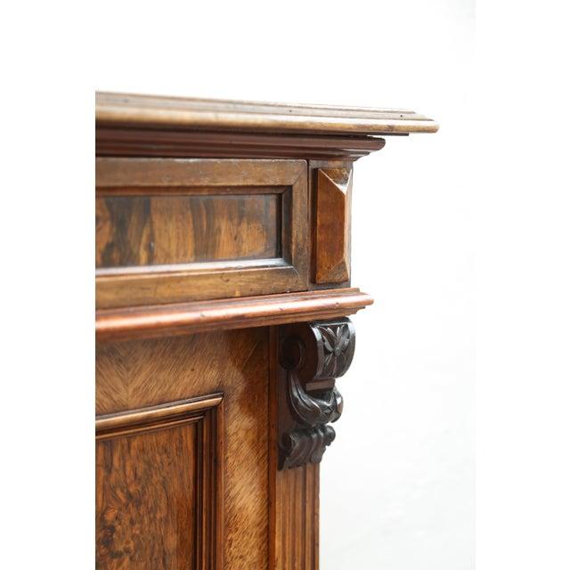 Biedermeier Style Walnut Cabinet, Germany, 1890 For Sale - Image 12 of 13