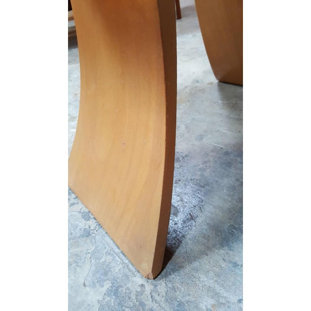 """Frankl Golden Mahogany """"Bell"""" Side Table - Pair - Image 9 of 9"""