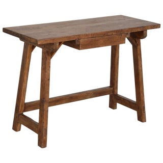 Custom Desk or Writing Table Made From Reclaimed Pine For Sale