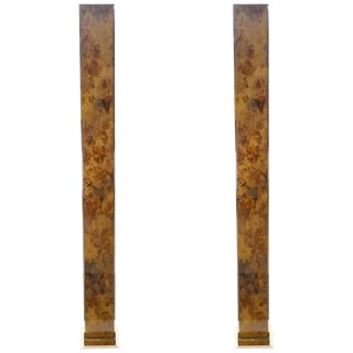 Pair of Brass Floor Lamps, 1970s For Sale