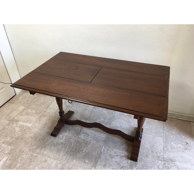 English Traditional Walter Company Slide Table or Desk For Sale - Image 10 of 13