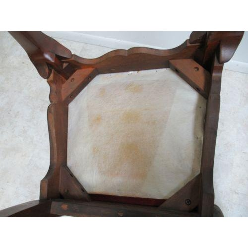 Vintage Thomasville Solid Cherry Queen Anne Caned Side Chair For Sale - Image 10 of 11