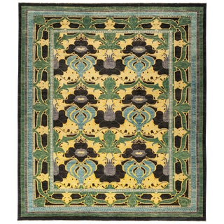 """Vichy, Arts & Crafts Area Rug - 9' 0"""" X 10' 10"""" For Sale"""