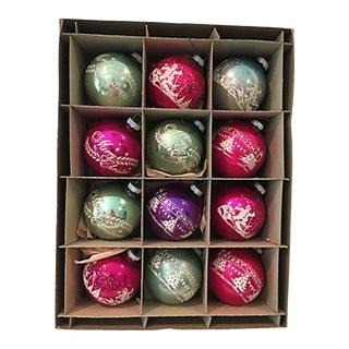 American Stencil Balls, Orig Box S/12 #1 For Sale