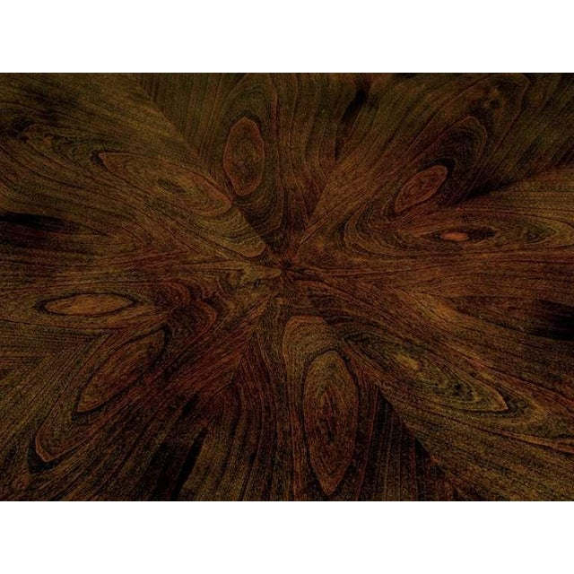 Burled & Figured Walnut End Table With Open Harlequin Base For Sale In Chicago - Image 6 of 6
