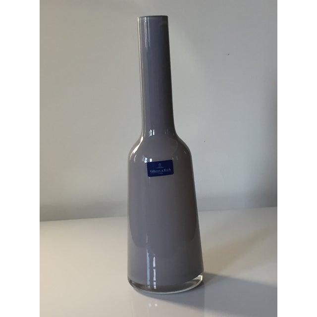 Villeroy & Boch Villeroy & Boch Light Gray Blown Glass Vase For Sale - Image 4 of 5
