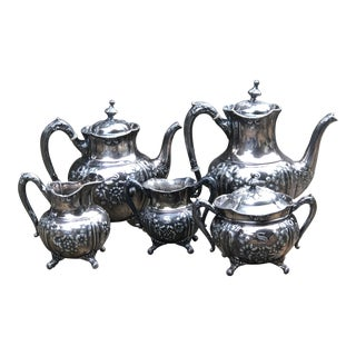 Reed & Barton Silver Plate Coffee Tea Service - Set of 5 For Sale