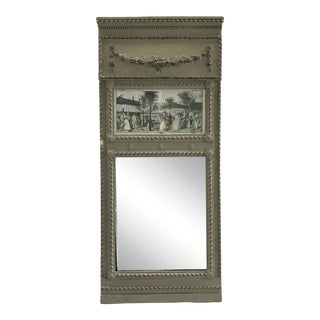 French Style Trumeau Mirror For Sale