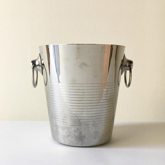 French A French Stainless Steel Ice Bucket by Letang Remy For Sale - Image 3 of 3