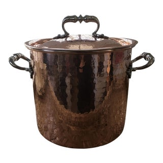 Vintage Italian Copper Stock Pot