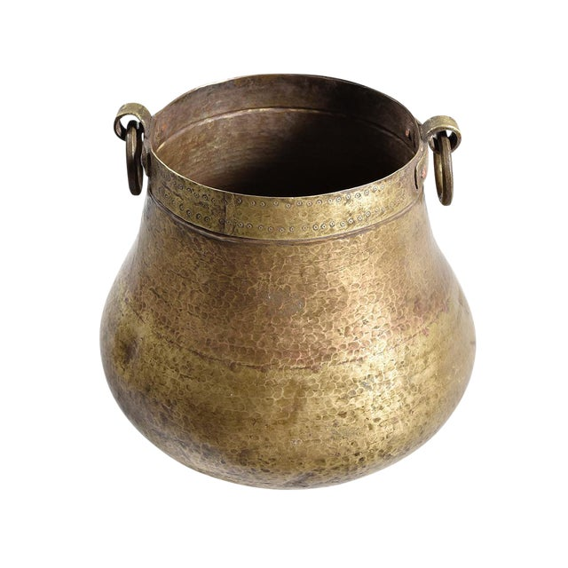 Antique Hand Hammered Brass Pot - Image 1 of 2