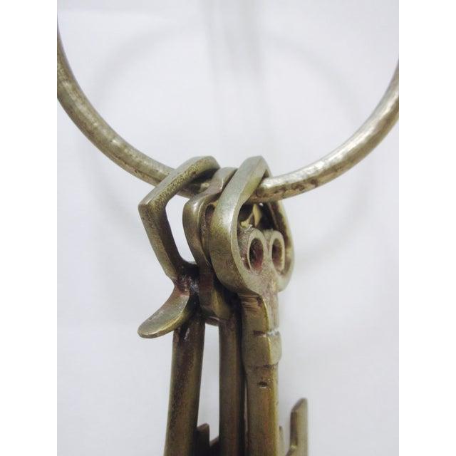 Oversize Hollywood Glam Large Brass Skeleton KeyS Ring Set - Image 6 of 9