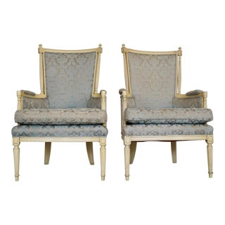 1960s Vintage Montgomery Furniture Inc Hollywood Regency Parlor Chairs- A Pair For Sale