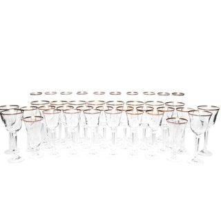"Mikasa ""Wheaton"" Lead Crystal Glassware - Set of 39 For Sale"