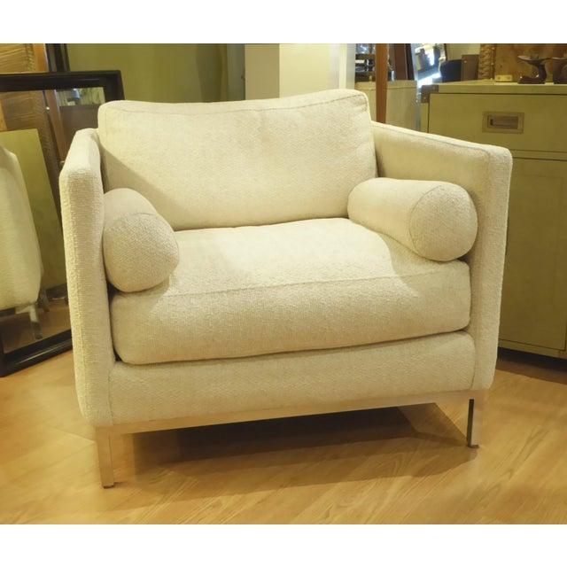 Modern Plush Armchair by ICF 1960s For Sale - Image 9 of 9
