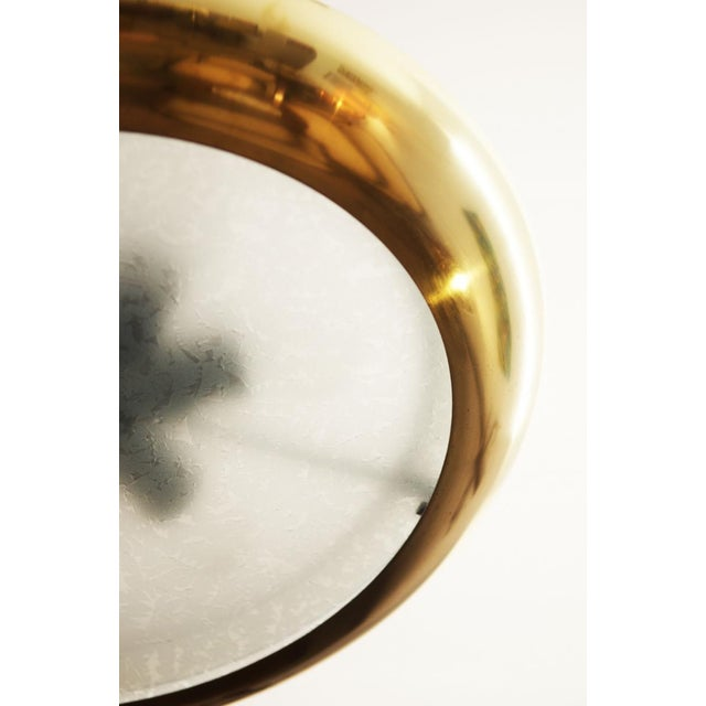 Brass Large Bauhaus pendant lamp by Josef Hurka for Napako, 1938 For Sale - Image 7 of 10