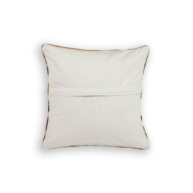 Striped Yellow Turkish Kilim Pillow - Image 3 of 3