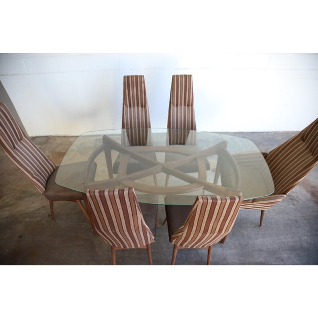 Authentic mid century modern Adrian Pearsall dining set. The dining set is in all original vintage condition, and the...