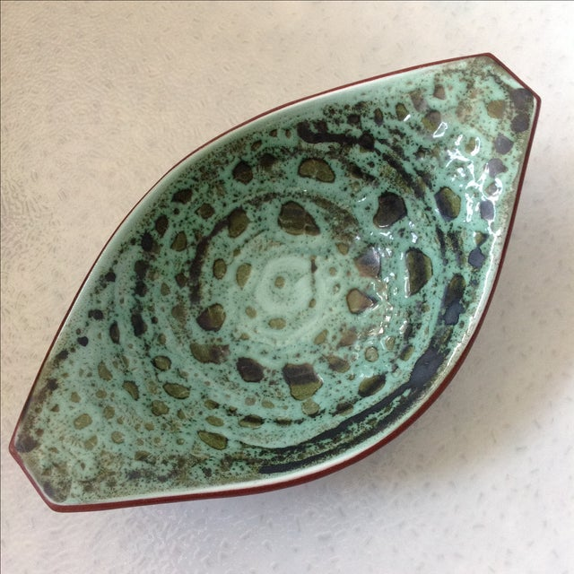Mid-Century Modern Scandinavian Art Pottery Bowl For Sale - Image 3 of 8