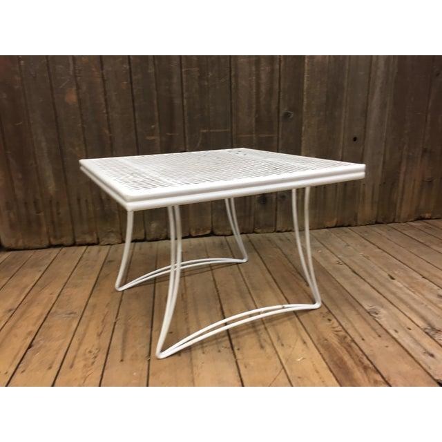 Mid Century Modern White Homecrest Side Table - Image 3 of 11
