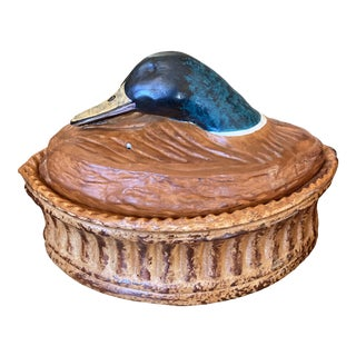 Vintage French Mallard Duck Terrine For Sale