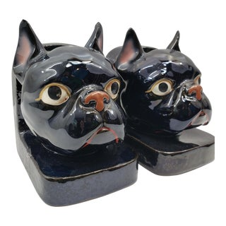 Vintage French Bulldog Bookends - a Pair For Sale
