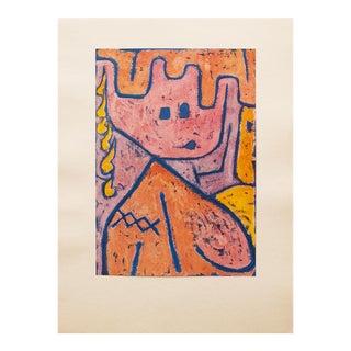 """1947 Paul Klee, Original """"Tête"""" Parisian Lithograph For Sale"""