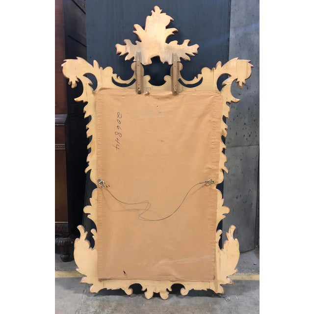 1900 - 1909 French Antique Gold Gilt Wood Carved Mirror For Sale - Image 5 of 6