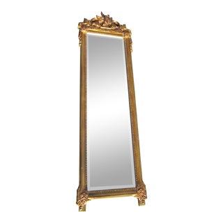 Regency Bird Acanthus Motif Full Length Mirror For Sale