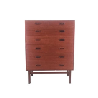 Vintage Danish Teak 7-Drawer Dresser For Sale